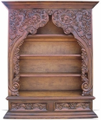 Old World Bookcase Toledo, Hand Carved