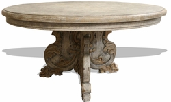 Old World Carved Dining Uteman Table