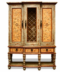 Old World Essex Manor Wine Cabinet