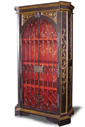 Old World Hand Painted Armoire Wine Cabinet Rachelle