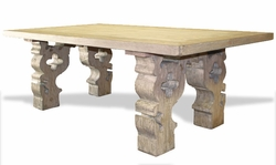 Old World Louisa Dining Table, Carved Corbels