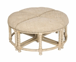 Ottoman Table (Euro Market Lavender  Grey)
