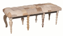 Patchwork Fabric Flat Bench