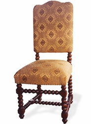 Peruvian Dining Side Chair, Upholstered (one pair)