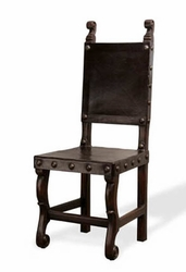 Peruvian Leather Side Dining Chair (one pair)