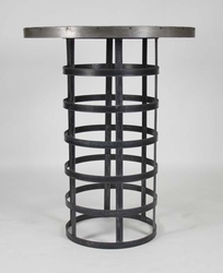 Recycled Metal Bar Table