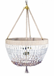 Stoney Beaded Chandelier with solid drop