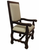 Straight Top Arm Dining Chair - (one pair)