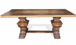 Dining Table Lisbon Brown Torched
