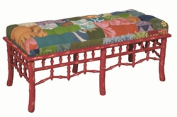 Tufted Patchwork fabric Bench