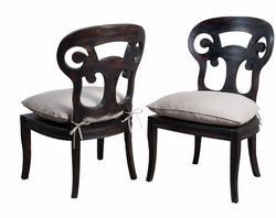 Verona Side Chair (Ash Black) (one pair)