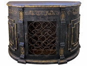 Wine Buffet, Hand Painted Black Baroque