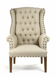 Wingback Chair, Tufted