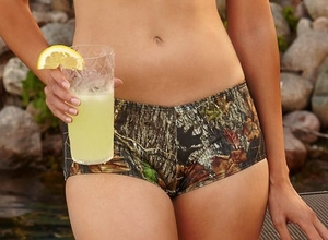 Boy Short Mossy Oak Camo Swim Bottoms