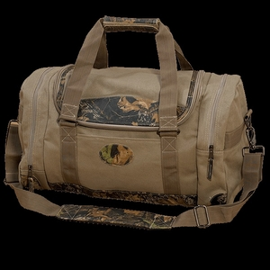 Mossy Oak Camo Leather Duffel Bag