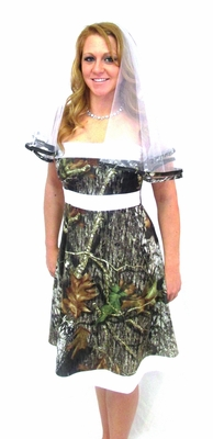 Tabitha Mossy Oak Camo Wedding Bridesmaid Dress