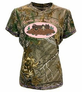 Womens Camo Diva Spa Day Realtree T Shirt