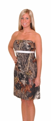 Zoey Mossy Oak Camo Wedding Bridesmaid Dress