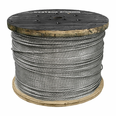 "3/4"" x 5000 ft 1x19 EHS Galvanized Guy Strand Cable - 58300 lbs Breaking Strength"
