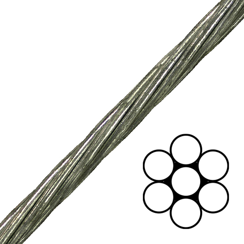 3 8 Quot 1x7 Ehs Galvanized Guy Strand Cable 15400 Lbs