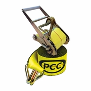 "PCC 3"" x 30 ft Ratchet Strap - Wire Hooks - 5500 lbs WLL"