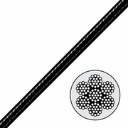 7x19 Black Nylon Coated Galvanized Cable