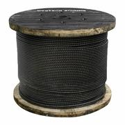"""9/16"""" x 2000 ft 6x26 Impact Swaged Wire Rope - 46700 lbs Breaking Strength"""