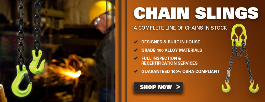Grade 100 Alloy Chain Slings for Lifting & Rigging