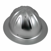 Aluminum Full Brim Hard Hat - Ratchet Suspension