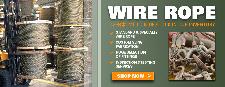 Bulk Wire Rope, All Types & Sizes for Sale