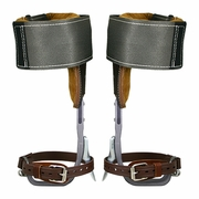 Climb Right CTB Aluminum Tree Climbing Spurs & Steel Wrap Pads