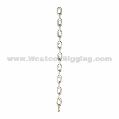CM #4 x 100 ftft Straight Link Machine Chain - 215 lbs WLL - #621309