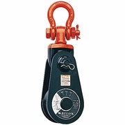 """Crosby 6"""" 419 Snatch Block - Shackle Mount - 5/8"""" - 3/4"""" Wire Rope - 17600 lbs WLL - #109126"""