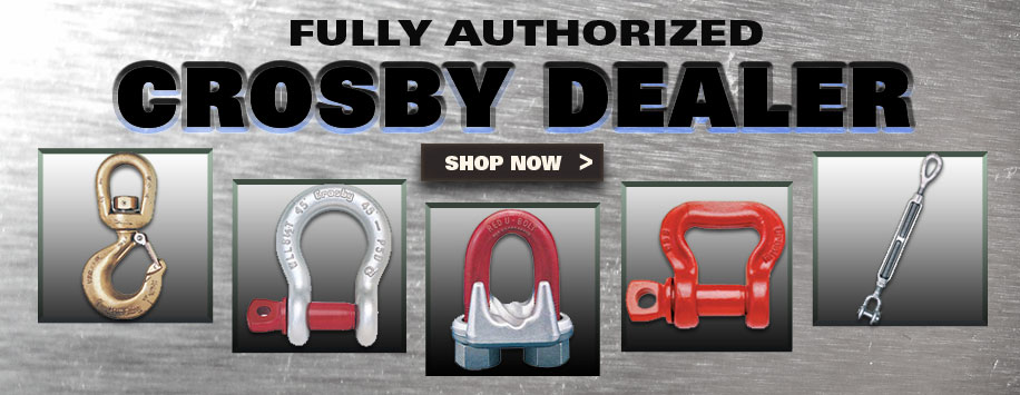 Crosby Rigging, Wide Selection, Authorized Dealer