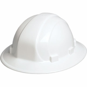 ERB Omega II Full Brim Hard Hat - White - #19911