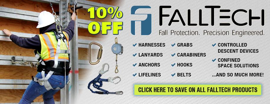 10% Off All FallTech Fall Protection Gear