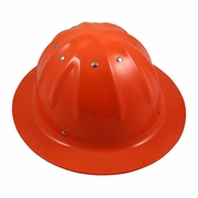 Forester Aluminum Full Brim Hard Hat - Hi-Vis Orange