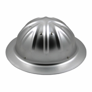 Forester Aluminum Full Brim Hard Hat - Silver