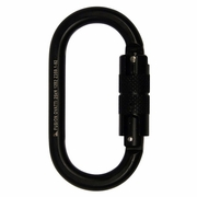 Fusion Ovatti Oval Steel Carabiner - Black - Double-Locking