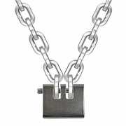 """Laclede 3/8"""" Security Chain Kit - 5 ft Chain & Padlock"""