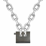 "Laclede 3/8"" Security Chain Kit - 8 ft Chain & Padlock"