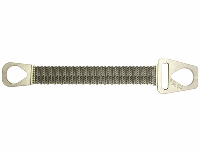 """Lift-All 2"""" x 4 ft Type 1 Roughneck Wire Mesh Sling - 10 Gage - 2300 lbs WLL"""