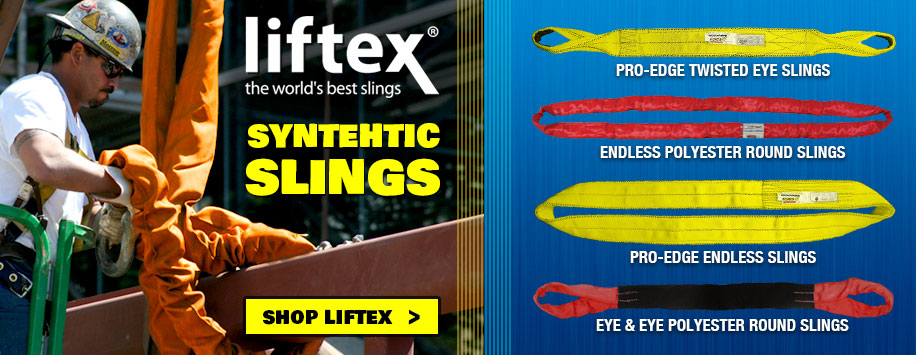 Liftex Rigging Slings, Pro-Edge & RoundUp Round Slings