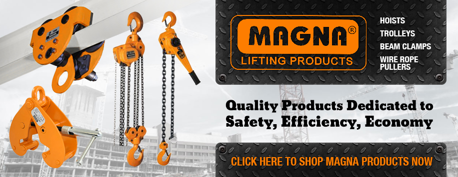 Magna Lifting Products, Hoists, Trolleys & Beam Clamps