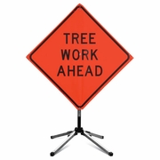 "Marvin 36"" Tree Work Ahead Sign & Stand Combo"
