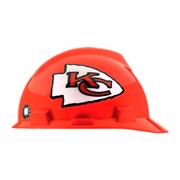 MSA V-Gard Cap Style NFL Team Hard Hat - Kansas City Chiefs