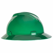 MSA V-Gard Full Brim Hard Hat - Green - #475370