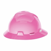 MSA V-Gard Full Brim Hard Hat - Hot Pink