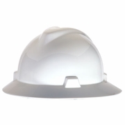MSA V-Gard Full Brim Hard Hat - White - #475369