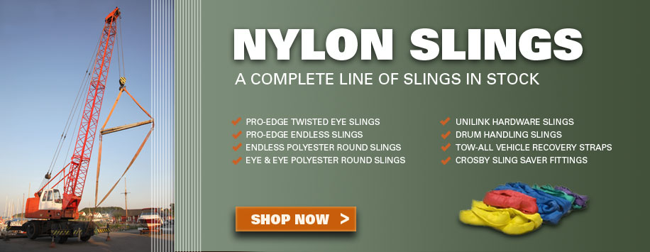 Nylon & Polyester Web Slings, Made in U.S.A.